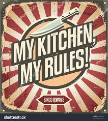 vintage sign promotional message my kitchen stock vector 277581692