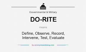 what does do rite definition of do rite do rite stands