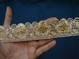 gold lace ribbon trim antique gold kundan lace ribbon