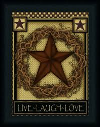 Live Laugh Love Signs Live Laugh Love Star By Carrie Knoff Art Print Framed U0026 Unframed