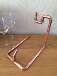 copper pipe wine bottle holder by coppersmithsuk on etsy 38 78