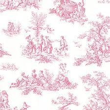 pretty prints 3 pink french country side toile wallpaper pp27801