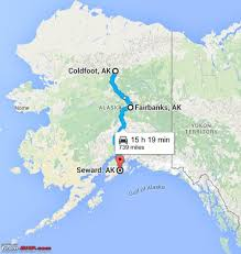 Alaska On A Map by 66 Degrees North Roadtripping In Alaska Team Bhp