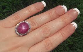 star ruby rings images A stunning estate 19 94 ct natural star ruby diamond 14k white jpg