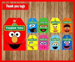 elmo decorations sesame thank you tags gift favors elmo tags gift label