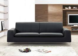 Contemporary Black Leather Sofa Make Your Room Beautiful With Modern Leather Sofa Elites Home Decor