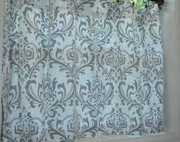 Damask Kitchen Curtains Cafe Curtains Etsy
