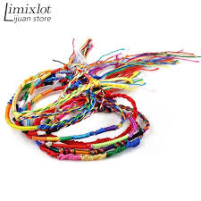 string friendship bracelet images Imixlot wholesale 20pcs lot handmade weave charm strand bangle jpg