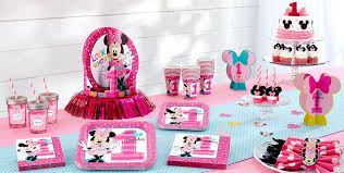 minnie mouse 1st birthday party ideas minnie mouse 1st birthday party supplies party city