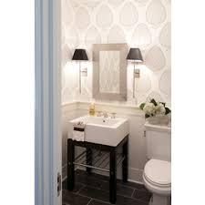 Polished Nickel Bathroom Mirrors by Nightingale Design Bathrooms Katie Ridder Leaf Wallpaper