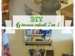 fabriquer un bureau enfant diy le bureau enfant gain de place 2 en 1 par la cour des petits