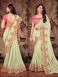 pista colour color georgette indian designer pakistani bollywood saree buy online