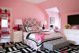 applying random girl bedroom ideas home design pink concrete wall paint a teenage girl bedroom combined with monochrome rug on the wooden floor