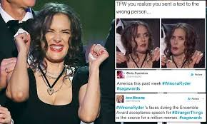 Faces Of Memes - winona ryder sparks memes during sag awards speech daily mail online