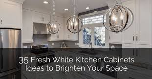 white kitchen countertops with brown cabinets 35 fresh white kitchen cabinets ideas to brighten your space