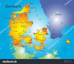 vector color map denmark country stock vector 171457274 shutterstock