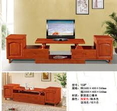 thailand imported oak wood cabinet tv cabinet telescopic chinese