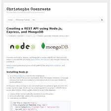 node js quick tutorial creating a rest api using node js express and mongodb pearltrees