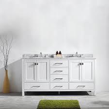 72 Inch Bathroom Vanity Without Top Vinnova 723072 Wh Ca Nm Modern Gela 72 Inch Double Vanity In White