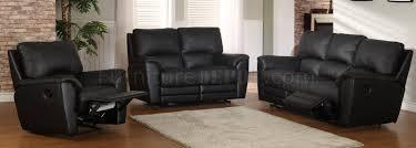 Black Reclining Sofa Black Leatherette Modern Reclining Sofa U0026 Loveseat Set W Options