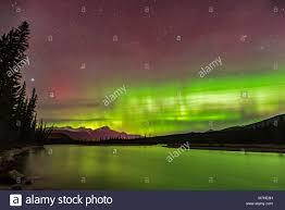 northern lights jasper national park the northern lights over the athabasca river in jasper national park