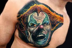 taturday 103 super creepy clown tattoos smosh