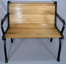 vintage cast iron oak wood floor slat patio garden porch chair