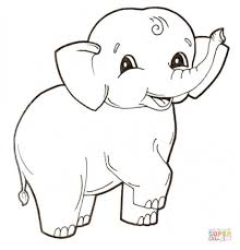 get this elephant coloring pages for preschoolers 17893