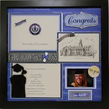 graduation shadow box of connecticut custom made graduation memory album page