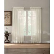 sheer window treatments home decorators collection sheer white semi sheer rod pocket