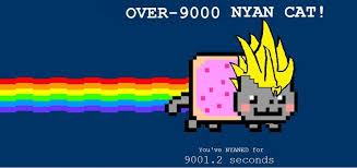 over 9000 nyan kitteh