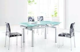 Frosted Glass Dining Table And Chairs Frosted Glass Top End Dining Table With Frosted Glass Top Silver