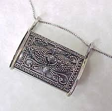 silver box necklace images Vintage cannetille 800 silver prayer box pill box pendant with jpg