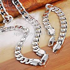 men white gold bracelet images 2018 wholesale fashion men 39 s 18k white gold filled necklace jpg