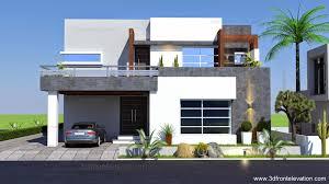 3d front elevation com 1 kanal contemporary house plan design create