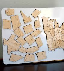 us map puzzle wood interstate highways magnetic wood usa puzzle pieces