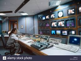 dubai uae edtv satellite tv control room stock photo royalty free