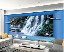 3d murals 3d wallpaper for room space waterfall living room backdrop photo
