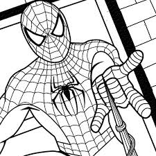 spiderman coloring in pages coloring pages kids