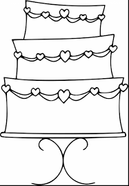 excellent cake coloring pages with birthday cake coloring page