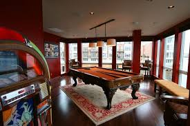 Game Room Rug Family Room Traditional With Dark Wood Flooring Pool - Family room rug