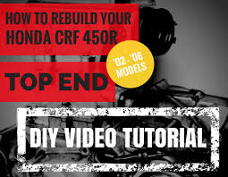 honda crf 450 top end rebuild how to video cylinder and piston