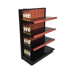 Liquor Store Shelving by Wood Gondola Shelving System Rounded Shelf End Cap Display