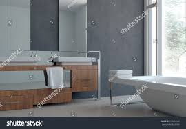 Home Bathroom 3d Modern Architectural Home Bathroom Interior Stock Illustration