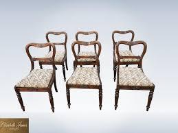Antique Regency Dining Chairs Set Six 6 Original Georgian Regency Dining Chairs