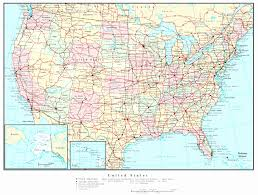 map louisiana highways interstates map of the united states with major cities and interstates us