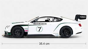 bentley gt3 interior rastar 1 14 bentley continental gt3 electric series rc racing car