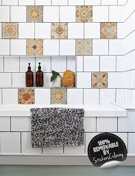 spanish tile stickers pack of 24 old wall style removable