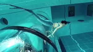 mermaid show in world u0027s deepest pool y 40 youtube