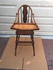 Antique Wooden High Chair Antique Wooden High Chair Ebay